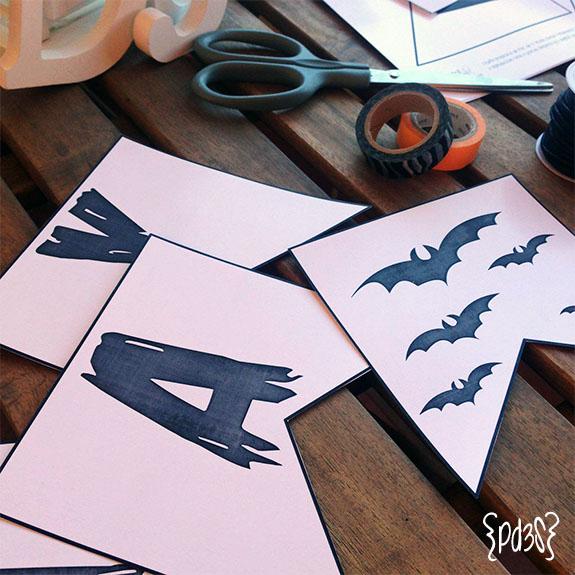 Par de 3 Studio guirnalda halloween